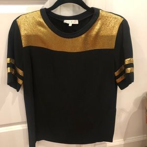 Sandro metallic boxy shirt - size small
